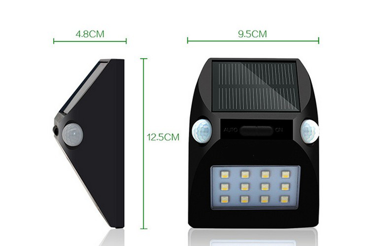Solar Wall Light with Dual Ml PIotion Sensors